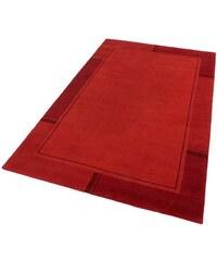 Teppich Ganges handgearbeiteter Konturenschnitt handgeknüpft THEKO rot 1 (B/L: 60x90 cm),2 (B/L: 70x140 cm),4 (B/L: 170x240 cm),7 (B/L: 250x350 cm)