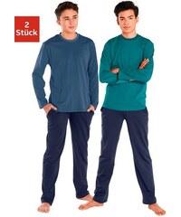 Pyjamas lang (2 Stück) cooler Pyjama in Basicfarben Baur Farb-Set 122/128,134/140,146/152,158/164,170/176,182