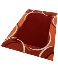 HANSE HOME Teppich Doische grafische Musterung mit Bordüre gewebt rot 1 (B/L: 60x110 cm),2 (B/L: 70x140 cm),3 (B/L: 120x170 cm),4 (B/L: 160x230 cm),6 (B/L: 190x280 cm),7 (B/L: 240x330 cm)