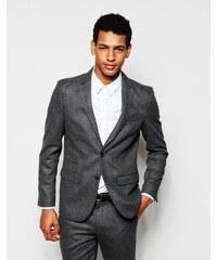 Selected Homme - Veste de costume en flanelle de laine avec coupe cintrée - Gris