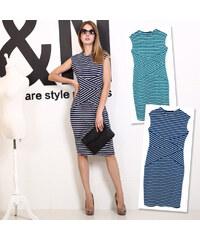Lesara Kleid mit Streifen-Muster - Grün - S