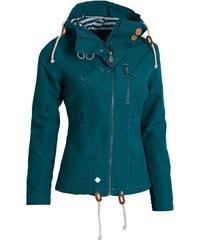 Bunda podzimní dámská WOOX Drizzle Jacket Ladies' Blue