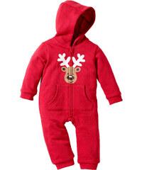 bpc bonprix collection Combinaison sweat-shirt bébé en coton bio rouge manches longues enfant - bonprix