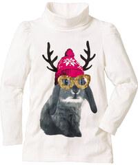 bpc bonprix collection T-shirt à col roulé, T. 80/86-164/170 blanc manches longues enfant - bonprix