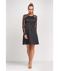 Dámské šaty Makadamia M254 černé