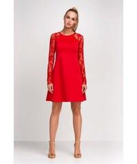 Dámské šaty Makadamia M254 červené