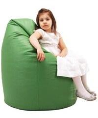 Ecopuf dětský sedací vak (pytel) Sako 7 zelená ekokůže