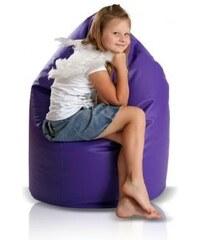 Ecopuf dětský sedací vak (pytel) Sako 12 fialová ekokůže