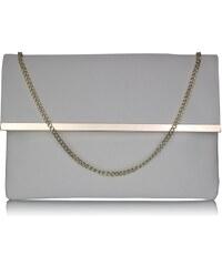 Luxusní bílé listové psaníčko LS Fashion 0279 bílá