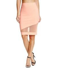 Guess Sukně Evaleen Asymmetrical Midi Skirt