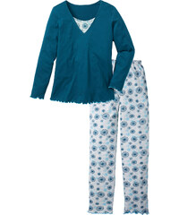 bpc selection Pyjama langarm in petrol für Damen von bonprix