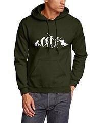 Coole-Fun-T-Shirts Herren Sweatshirt SNOWBOARD Evolution Hoodie