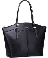 NUCELLE dámská kožená kabelka Big černá