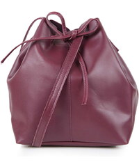 Topshop Leather DufflE Crossbody Bag