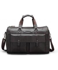 Pánská taška Feger Briefcase hnědá - černá