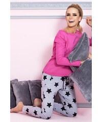 Dámské pyžamo Pigeon P-504/1 dark pink, růžová