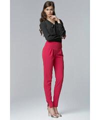 NIFE Dámské elegantní kalhoty Office růžové
