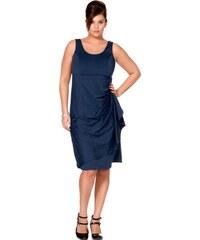 Společenské šaty pro plnoštíhlé, M.I.M., večerní šaty v nadměrné velikosti 58 noční modrá