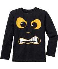 bpc bonprix collection T-shirt manches longues à imprimé cool, T. 116/122-164/170 noir enfant - bonprix