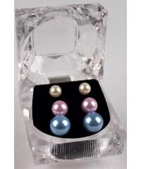 EU Dámské náušnice perlové - sada 3ks