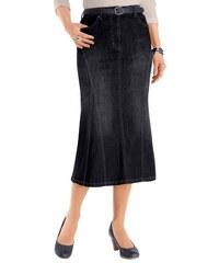 COLLECTION L. Damen Collection L. Jeans-Rock in dezenter Waschung schwarz 19,20,21,22,23,24,25