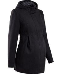 bpc bonprix collection Umstandsmantel mit Kapuze, weitenregulierbar langarm in schwarz für Damen von bonprix