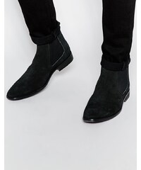 Base London - Bottines chelsea en daim - Noir