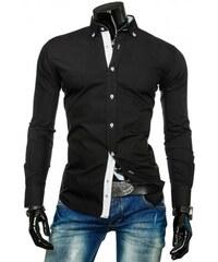 Pánská košile Rabby černá - černá