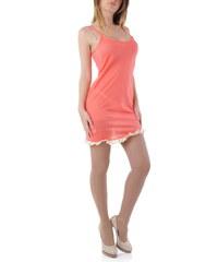 Dámské šaty Rebecca 52997 - Světle oranžová / S/M