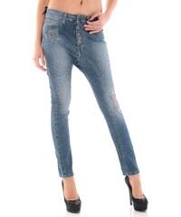 Dámské jeans Sexy Woman 46873 - Modrá / XS