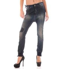Dámské jeans Sexy Woman 46851 - Tmavě modrá / XS