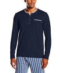 BOSS Hugo Boss Herren Schlafanzugoberteil Jersey Shirt BP LS 10161407 01, Einfarbig