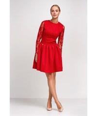 Dámské šaty Makadamia M248 červené