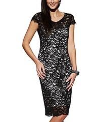 APART Fashion Damen Etui Kleid Spitzenkleid, Knielang