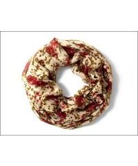 Květinový červený šátek