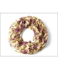 Květinový fialkový šátek