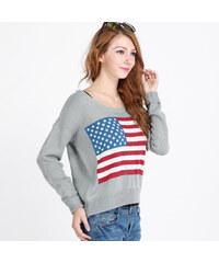 Lesara Pull avec drapeau américain
