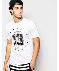 Asphalt Yacht Club - T-Shirt mit Rosenprint - Weiß