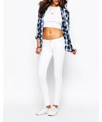 Hollister - Jean taille basse ultra skinny - Blanc