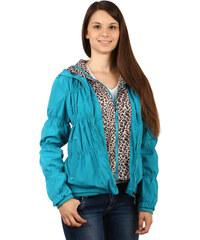 TopMode Moderní prošívaná bunda se zvířecím vzorem modrá