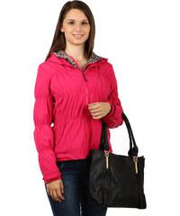 TopMode Moderní prošívaná bunda se zvířecím vzorem růžová