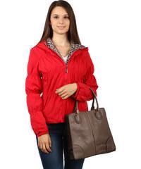 TopMode Moderní prošívaná bunda se zvířecím vzorem červená