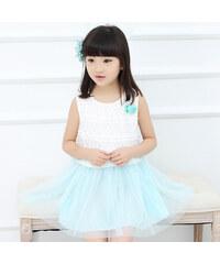 Lesara Mädchen-Spitzen-Kleid mit Tüll - 110