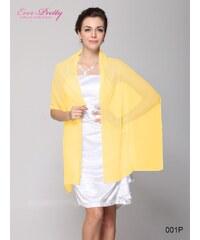 Ever Pretty Šifonový pléd, společenská šála, přehoz žlutá