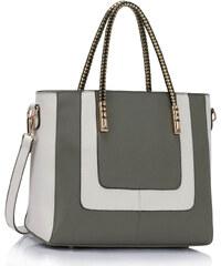LS fashion Dámská kabelka LS00318 šedo-bílá