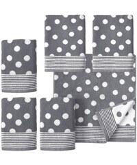 Handtuch Set Dots mit Punkten Dyckhoff grau 6tlg.-Set (siehe Artikeltext)