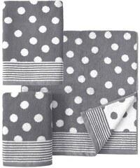Handtuch Set Dots mit Punkten Dyckhoff grau 3tlg.-Set (siehe Artikeltext)