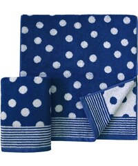 Handtücher Dots mit Punkten Dyckhoff blau 2xHandtücher 50x100 cm