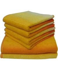 Dyckhoff Handtuch Set Colori mit Farbverlauf gelb 6tlg.-Set (siehe Artikeltext)