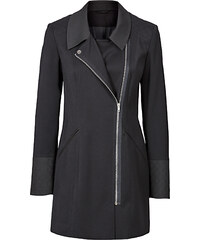 BODYFLIRT Mantel in Kontrastoptik langarm in schwarz für Damen von bonprix